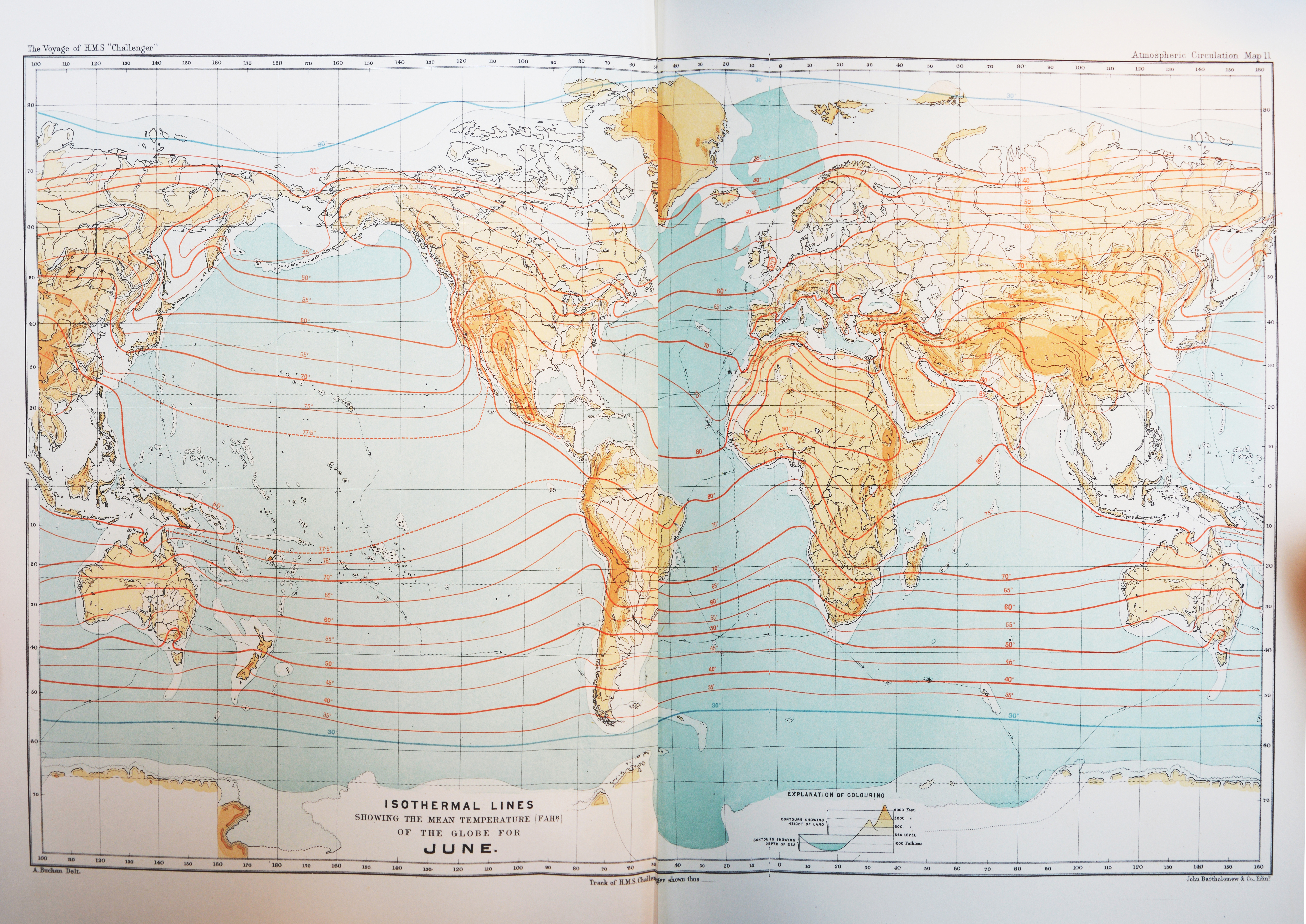 This map was made using data from the Challenger expedition